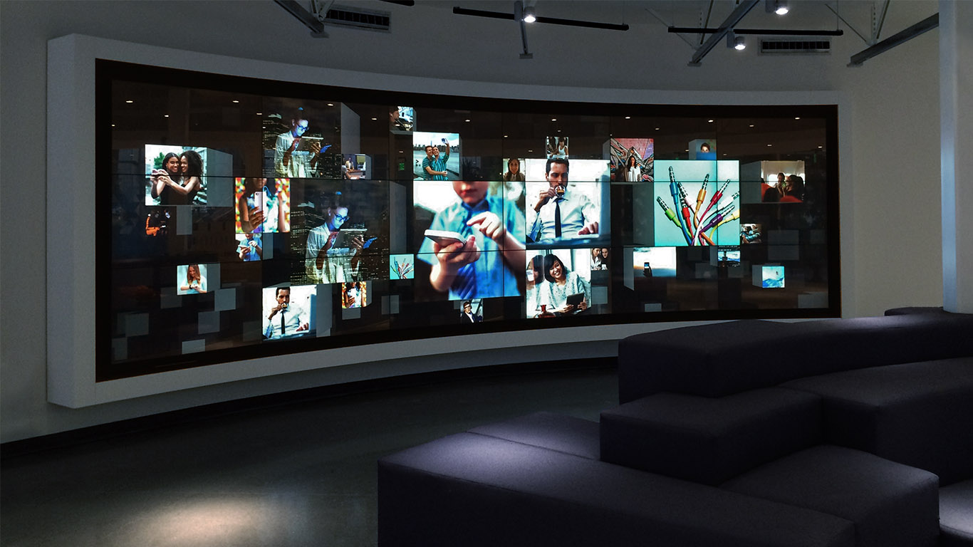 The immersive touchscreen experience at Jabil's Blue Sky Center.
