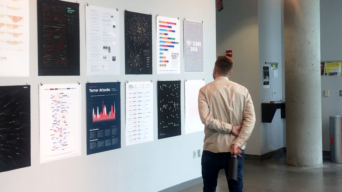 Posters on display at MICA.